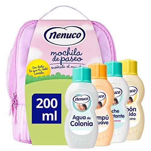 Nenuco pack regalo Bebé Mochila de Paseo Rosa 4 x 200ml