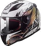 LS2 FF353 RAPID BOHO - Casco da moto, taglia L, colore: Bianco/Nero/Rosa