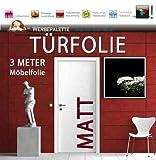 Die Werbepalette (EUR 6,14/Quadratmeter) 3 M x 122 cm Türfolie Möbelfolie MATT Deko Plotterfolie + weiß + Klebefolie (EUR 5,44/Quadratmeter)