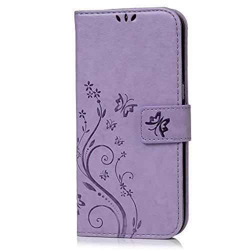 Galaxy S7Edge Flip Case-Mavis' s Diary Fashion floreale farfalla stampa in ecopelle di supporti di carta e cinghia per Samsung Galaxy S7Edge con Bling Dust Plug & penna