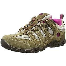 Hi-Tec Quadra Classic - Zapatillas de Senderismo para Mujer, Beige (Taupe/Cyclamen), 37 EU