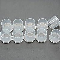 Ddellk - 100 vasos de plástico transparentes para tatuajes de maquillaje (tamaño pequeño), color transparente