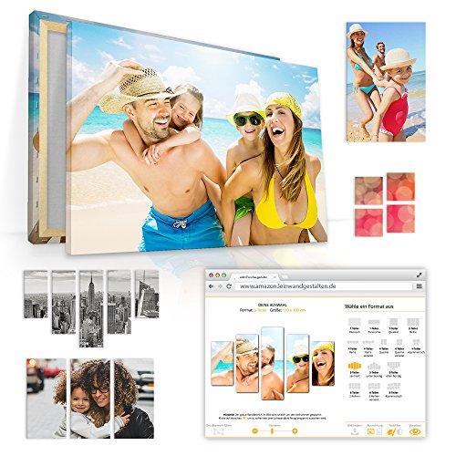 malango® Fotoleinwand SELBST GESTALTEN über 64 Millionen Bildmotive zur Auswahl - handgefertigt auf 2 cm Keilrahmen 8-Teiler Asymmetrisch 175 x 90 cm Foto aus Bildergalerie