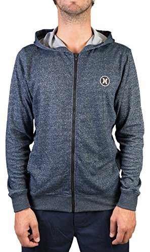 Hurley Hoodie Dri-Fit League 2.0 Zip Polaire Bleu - Noir