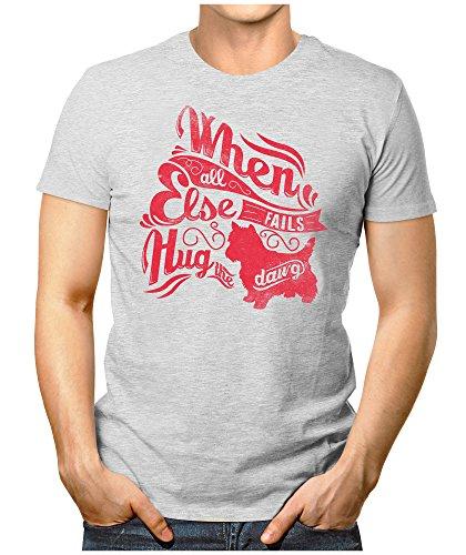 PRILANO Herren Fun T-Shirt - WHEN-ELSE-HUG - S bis 5XL - 100% Baumwolle - NEU Grau Meliert