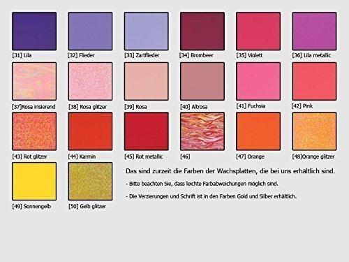 Taufkerze Eule rosa pink Taufkerzen Mädchen 250/70 mm inkl. Beschriftung - 4