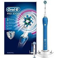 Oral-B Pro 3000 - Cepillo de dientes eléctrico de rotación, color blanco y