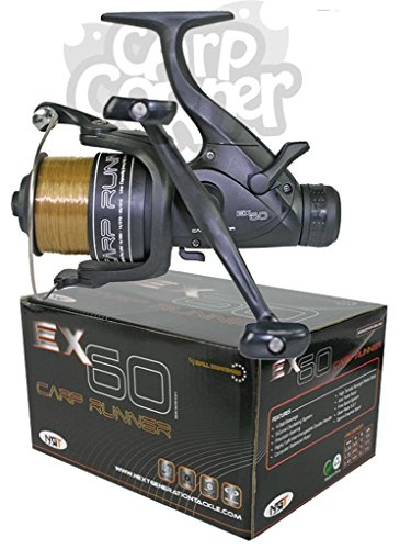 NGT-EX60-Carp-Pike-Coarse-Fishing-Reels-Baitrunner-Reel-Loaded-With-10LB-Line-Twin-Handle-Reels-Outstanding-Balance-And-Quality