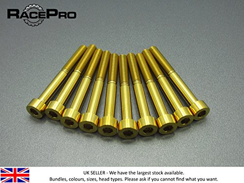 RacePro - 4x Titanium Parallel Socket Bolt Allen - M7 x 45mm