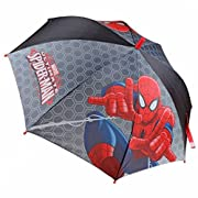 'Marvel Spiderman Ombrello automatico bambino/104 cm di diametro licenza merce con etichetta. dei bambini dello schermo ha due grandi figure di Spiderman, le ferrovie 2 piste, tra sono due ciascuno con scritta Marvel Spiderman e due neri ferr...
