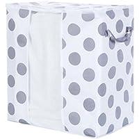 STRIR Housse de rangement en Lin et toile de coton Ultra pliable Pour couettes, couvertures, oreillers, vêtements…