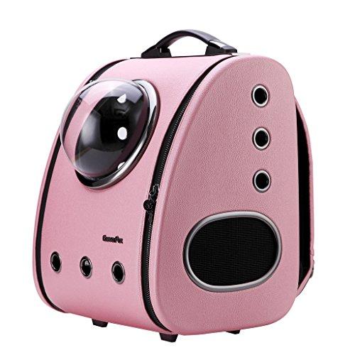 CLOVERPET C0101 Reise-Rucksack für Katzen, Hunde, Welpen, Pink (Carrier Pet Pink Fluggesellschaft)