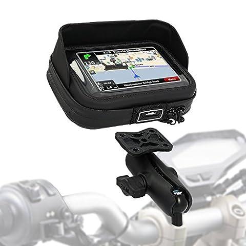 Support GPS Moto Honda Africa Twin XRV 750 90-03 SW-Motech Case Pro M