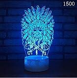 Ausländische bunte helle kreative Nacht des Lichtes 3d führte Boden-Stall-dekorative Maske geführte Beleuchtungs-Neuheit usb 3d führte Lampe 3d