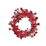 Jia Hu Glitter Star Garland Ghirlanda Decorazione per Albero di Natale Appeso Ornamenti Decorazioni per Feste di Natale Sandali Adventure Seeker, Punta Chiusa - T - Bambini