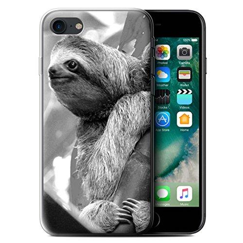 Stuff4 Gel TPU Hülle / Case für Apple iPhone 8 / Schildkröte Muster / Zoo-Tiere Kollektion Faultier