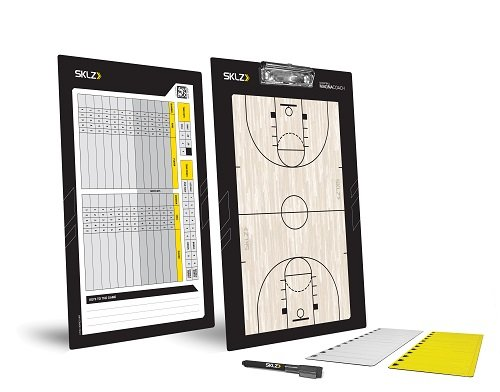 SKLZ Coaches Board Magna Basketball Trainer Taktikbrett und Magnettafel, NSK000048 (Coach-board Basketball)