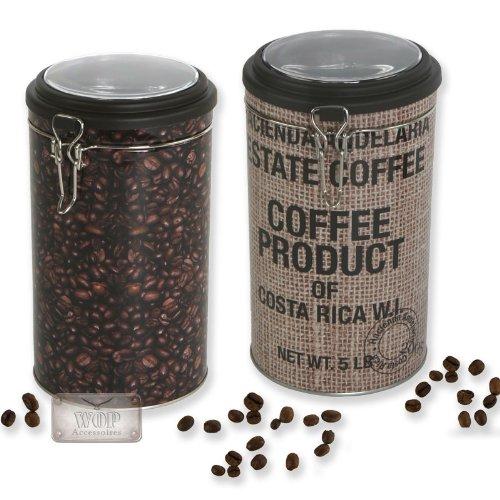 Kaffeedose, Frischhaltedose, Modell 'Twins' im 2er Set Aufbewahrungsbox im Kaffeedesign