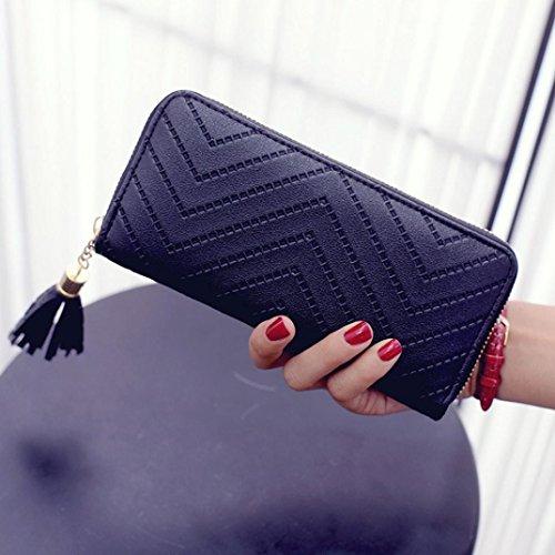 Cartera de Grandes y Larga Piel de Moda para Mujer y Niña Z