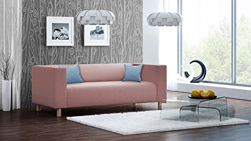 lifestyle4living Sofa, Couch, 3-Sitzer, Polstersofa, Webstoff, Altrosa, Rosa, Pink, Wohnzimmercouch, Designersofa, Modern, Retro, 3er Sofa