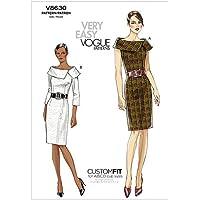 Vogue Patterns V8630 - Patrones de costura para vestidos de mujer (talla AA: 36-42)