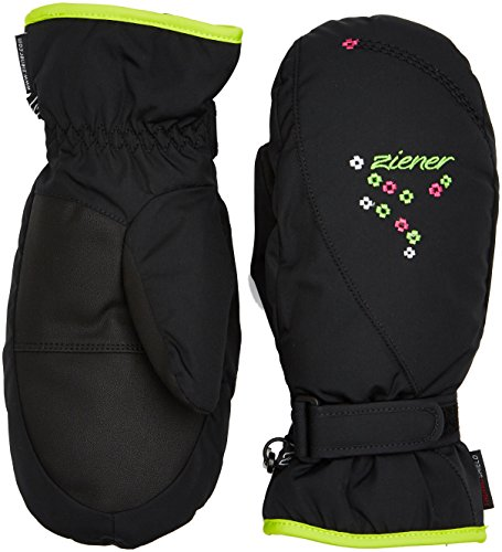 Ziener Mädchen LISYO Mitten Girls Gloves junior Alpinhandschuhe, Black, 3 | 04052928964908