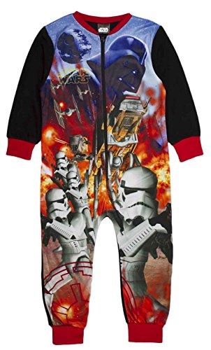 Tuta intera in pile personaggio pigiama per bambini all in one pj taglia uk 1–10anni star wars - storm trooper 3-4 anni