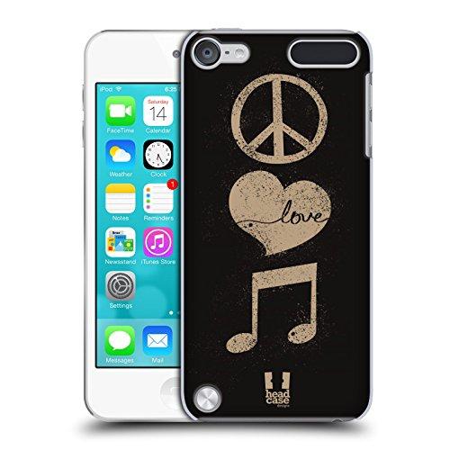 Head Case Designs Peace And Love Kraft Der Musik Ruckseite Hülle für iPod Touch 5th Gen / 6th Gen (Ipod Touch 5 Case Musik)
