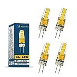 4 pezzi G4 Lampadina led 2,5W, equivalente a 20W Lampada Alogena, 250LM, AC/DC 12V, SMD 2835, Bianco caldo 3000K, Angolo di visione 330°, non dimmerabile