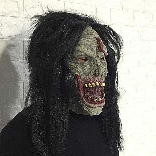 (Halloween Show Requisiten Gesicht Lange Wurm Horror Maske Perücken Monster Unheimlich Ekelhaft Latex Headwear)