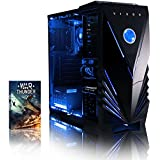 VIBOX Tower 23 Desktop PC - with WarThunder Game Bundle (3.7GHz AMD Dual Core Processor, Radeon 8370D Graphics Chip, 1TB, 8GB RAM, Blue Gamer Case, No Operating System)