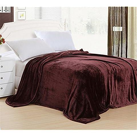 Zerci Super Soft corallo velluto coperta lenzuola letto coperte, morbido