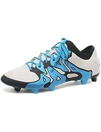adidas X 15.2FG/AG–Botas de fútbol/fútbol tacos, gris, 8