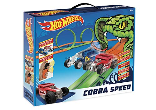 Hot Wheels- Cobra Speed Circuito Slot, Color único (Fábrica de Juguetes 91009)
