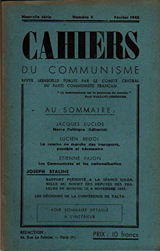 cahiers-du-communisme-n4-fevrier-1945