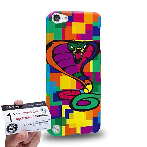 Case88 [Apple iPod Touch 5] 3D Hülle / Schutzhülle & Garantiekarte - Art Drawing Cobra Kawaii Abstract Animals -