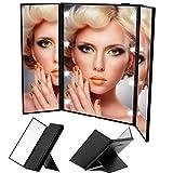 Wawoo® Make-up-Spiegel mit Beleuchtung 8 LEDs 3 Seite 3-facher Vergrößerung