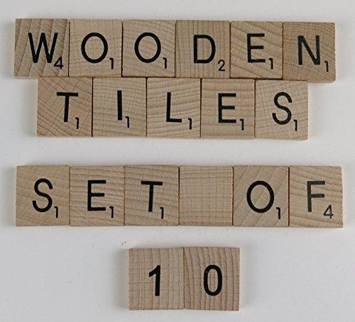 Wooden Scrabble letters - Packs of 10 per Letter (Tile D)