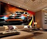 Benutzerdefinierte 3D Foto Wandbild Tapete TV Hintergrundbild Bettwäsche Zimmer Dynamische Sportwagen 3D Vlies Tapeten Home Decor