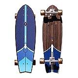 Skateboard Professional Haut de gamme Big Fish Board Débutant Homme et Femme Adultes Enfants Quatre roues Route Brosse Rue Skateboard Petit Fish Board Travel Bleu ( Color : BLUE , Size : 76*23*15CM )
