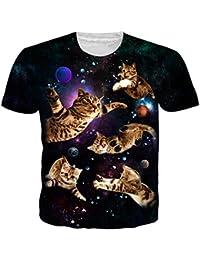 3db2802157a61 NEWISTAR Unisex 3D Printed Summer Casual Short Sleeve T Shirts Tees