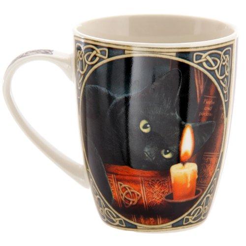 PUCKATOR MULP21 Lisa Parker - Taza (8,5 x 12 x 10 cm), diseo de gato negro