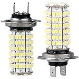 SODIAL(R) H7 12V 120 3528 SMD LED Bombilla Lampara Luz Coche Blanco
