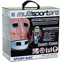 Sport-Elec Multisport Pro - Electroestimulador para entrenamiento deportivo, color blanco, negro y gris