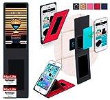 reboon Hülle für Meizu Pro 7 Plus Tasche Cover Case Bumper | Rot | Testsieger