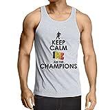 Camisetas de Tirantes para Hombre Los belgas Son los campeones: Campeonato de Rusia 2018, Copa del Mundo de Fútbol, Equipo de la Camiseta de la Fan de Bélgica (X-Large Blanco Multicolor)