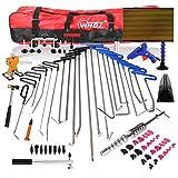 WHDZ 86 STÜCKE Paintless Dent Repair Tool PDR Stangen Kit mit Slider Hammer Dent Lifter Brücke Puller Set LED Line Board für Pop a Dent