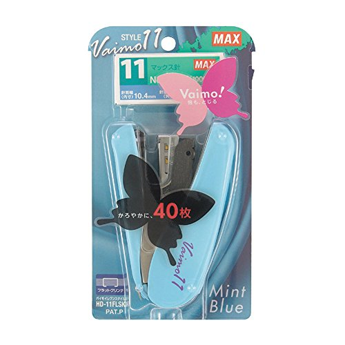 max-vaimo-11-style-stapler-40-sheets-max-mint-blue