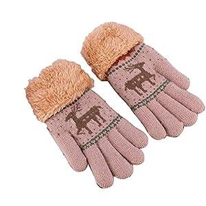 Wangcui Kinder Stricken Handschuhe für Baby Mädchen Jungen Kleinkinder Outdoor Sports Thermal Handschuhe wärmer (Farbe : C)