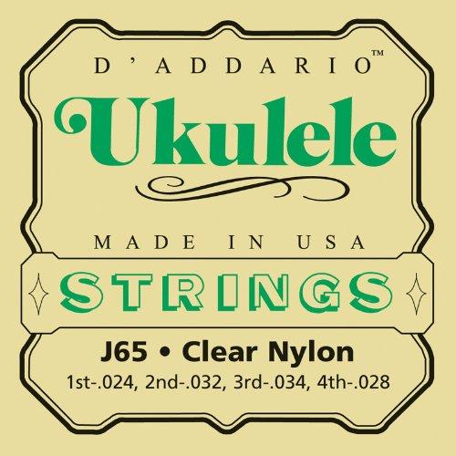 D\'Addario J65 Satz Nylonsaiten für Ukulele, Dulcimer, Tenor Gitarre, Oud
